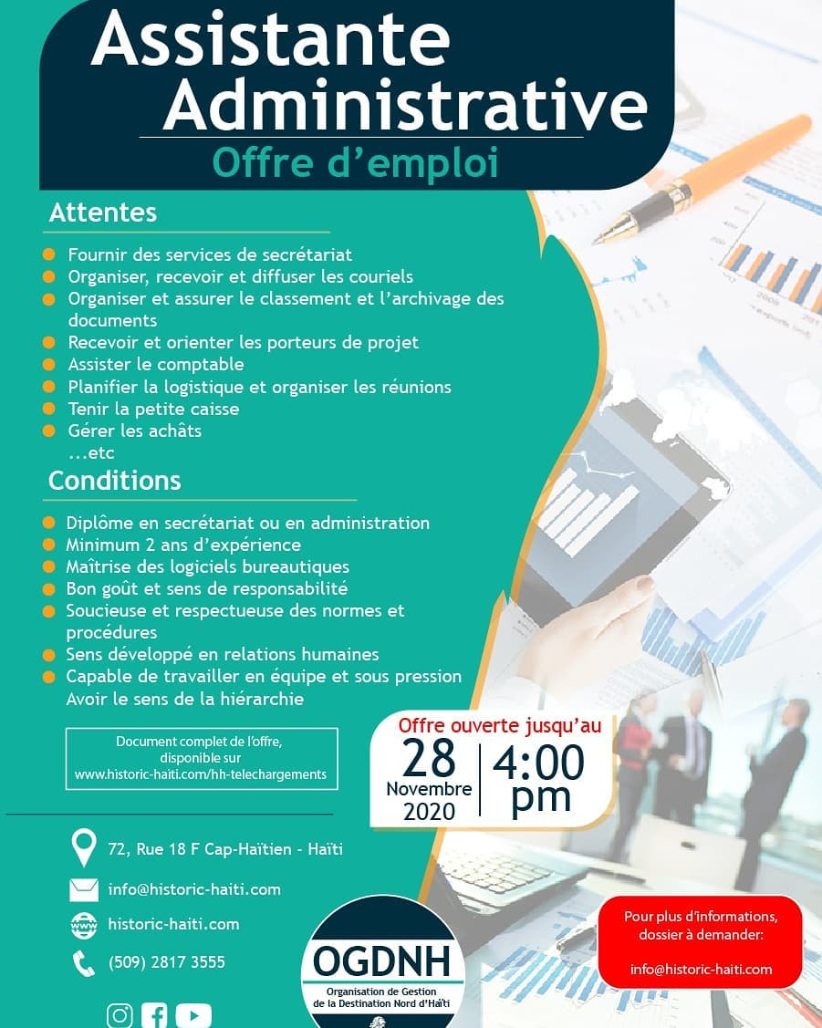 2020 09 21 - Appel D_offre Assistante Administrative